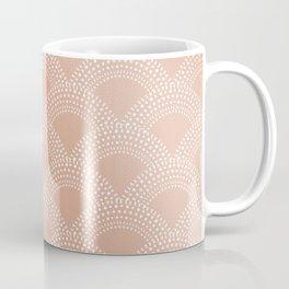 Elegant blush pink mermaid fish scale pattern Coffee Mug