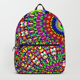 Vibrant Flower Garden Mandala Backpack