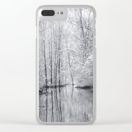 Man vs. Nature: Flood Clear iPhone Case