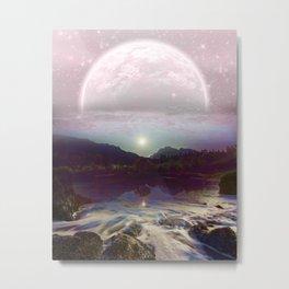 371 Lavender Moon Landscape Metal Print