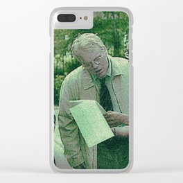 A Script For Ed & Philip By A Spike Clear iPhone Case