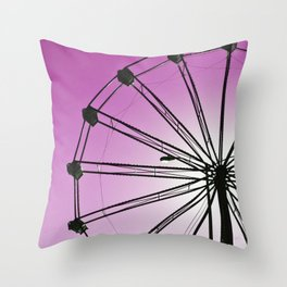 The Wheels Fly - Purple Throw Pillow