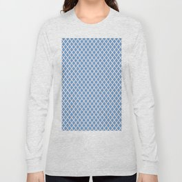 Diamonds in Blue and Pink Dots Long Sleeve T-shirt