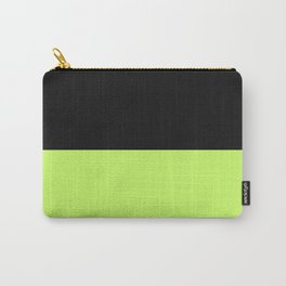 Lime And Black Block Carry-All Pouch