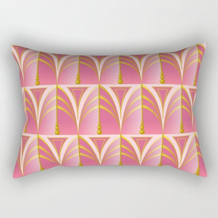 Art Deco - Pink Blush Rectangular Pillow