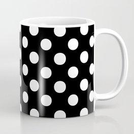 Polka Dots (White/Black) Coffee Mug