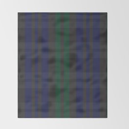 Green and blue plaid pattern Throw Blanket