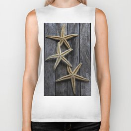 Starfishes in wooden Biker Tank