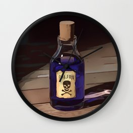 Bottle Of Poison Wall Clock