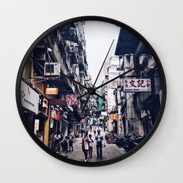 Up the Street Wall Clock