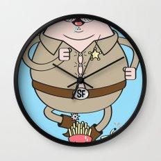 Sherif Fatman and Fast Food Wall Clock