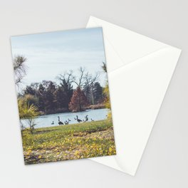 Migrate | Nature Landscape Photography of Birds in Fall Autumn Leaves Trees Stationery Cards