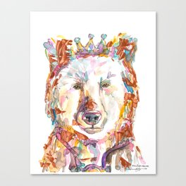 Princess Bear Canvas Print