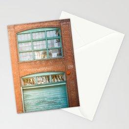 Street photography brick warehouse entrance II Stationery Cards
