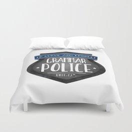 Grammar Police Duvet Cover