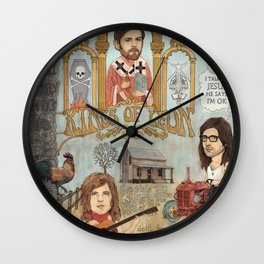 Kings Of Leon - Back Down South Wall Clock