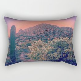 Pink Desert Aglow Rectangular Pillow