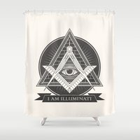 illuminati Shower Curtains featuring I am illuminati by Daniela Dix