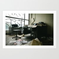 Urbex - office Art Print