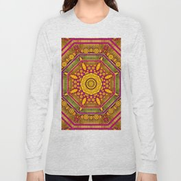 Sunshine Mandala and other golden planets Long Sleeve T-shirt