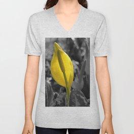 Yellow Flower Unisex V-Neck