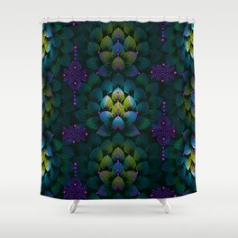 Variations on A Feather IV - Stars Aligned (Primeval Edition) Shower Curtain