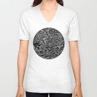 moriarty V-neck T-shirts featuring MEMENTO MORIARTY by Allison Kolarik