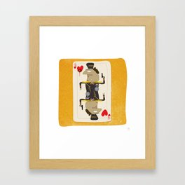 Colonel Gaddafi - 'The House always Wins' Framed Art Print