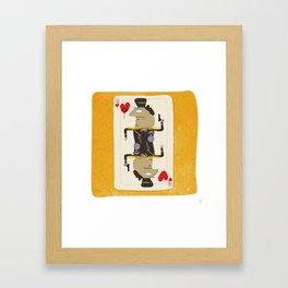 Colonel Gaddafi - 'The House always Wins' Framed Art Print