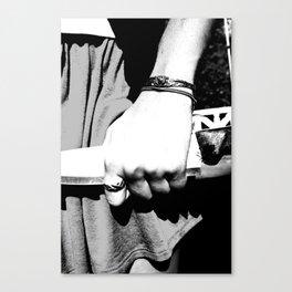 Whiteout: Knife Canvas Print