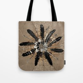 native vintage mandala Tote Bag
