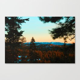Snowy Truckee Surnise Canvas Print