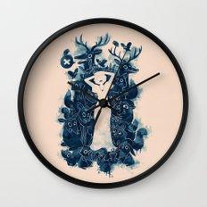 Dark Forest Wall Clock