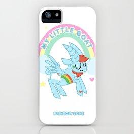 Rainbow Love - My Little Goat iPhone Case