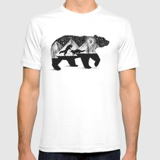 THE BEAR AND THE FOXES MEDIUM Mens Fitted Tee White
