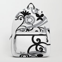 Butterfly Flourish GRY Backpack