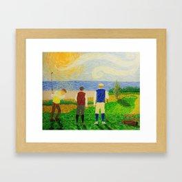 Closing The Deal Framed Art Print