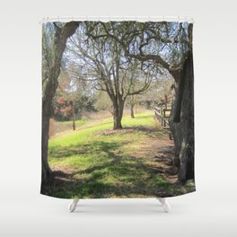Trees by the magazine Shower Curtain