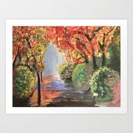 Walk Way Art Print