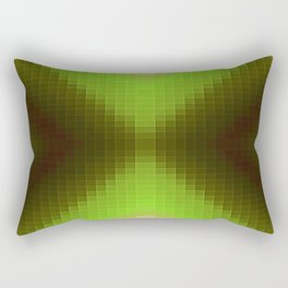 Forest Green Pixels Rectangular Pillow