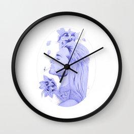 Old School Bill Kaulitz Blue Wall Clock