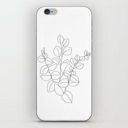 Minimalistic Eucalyptus  Line Art iPhone Skin
