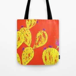 Orange cacti garden Tote Bag