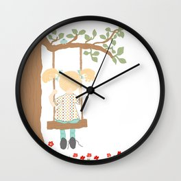 On the Swing, In the Tree Wall Clock