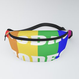 Flag with LGBT colors with inclusive language Fanny Pack