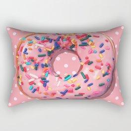 Pink Donut Rectangular Pillow