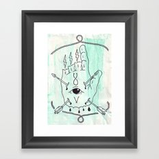 The One Who Points The Way. Framed Art Print