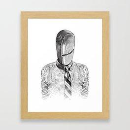 Pill Addict with Painkiller Head. Framed Art Print