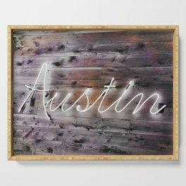 Austin NeonSign Serving Tray