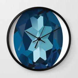 Precious sapphire. Wall Clock